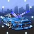 Blauer Sportwagen 2