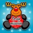Niedlicher Elch: Frohe Weihnachten