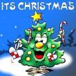 Christmas tree with gift: It's christmas