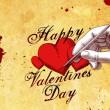 Valentinstag - Hand zeichent ein Herz auf Papier