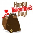 Happy Valentines Day: Bears in love